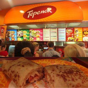 ロシアにはテレモーク(Теремок)という、 ブリヌイの専門店(ファストフード店)があり、現地ではマクドナルドやケンタッキーよりもメジャーです。